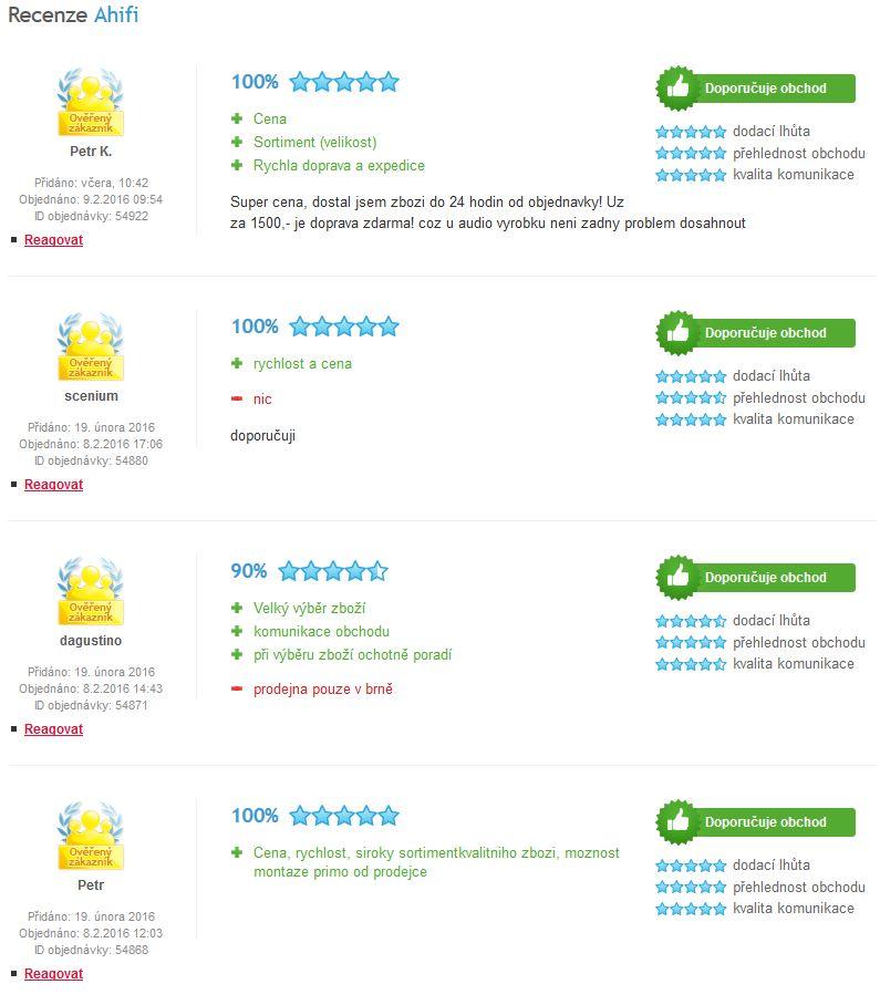 42bfd3795 ... a cítění zákazníka podívat i z jeho strany a možná i v tom tkví úspěch,  kterým je pro nás hodnocení 99 %, za což všem našim zákazníkům velmi  děkujeme.