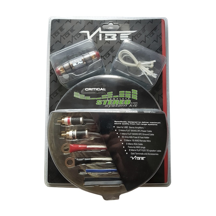 Kabelov Sada Vibe Stereo Kit 8 Avg Gauge Amplifier Wiring 1500w Audio Images