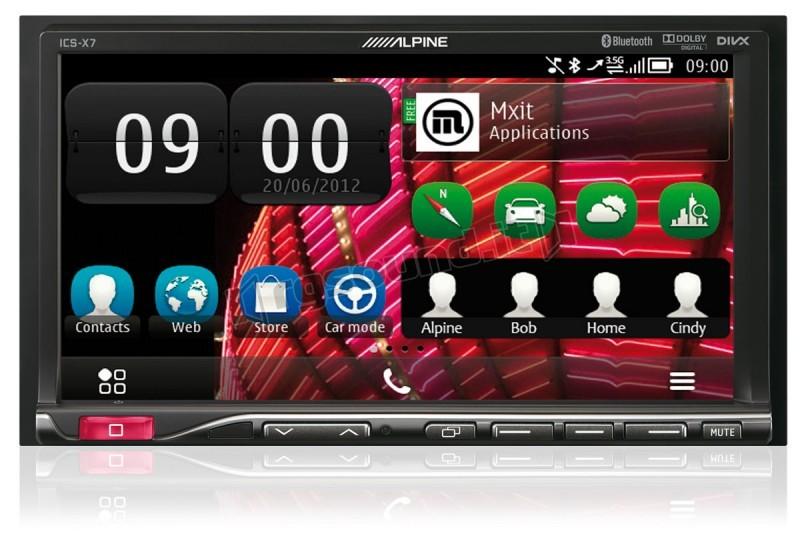 Mobilní mediální stanice ALPINE ICS-X7