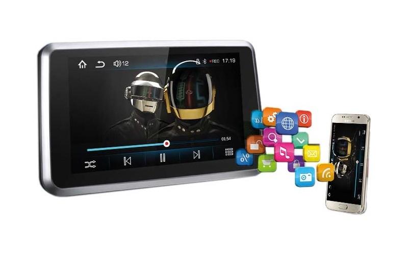 "LCD monitor 7"" s mirror link, DVR, GPS, Bluetooth, HD přehrávač USB/micro SD ds-731mdvrGPS"