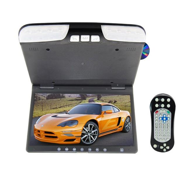 """Stropní monitor 15,6"""" černý s DVD/SD/USB ds-1560d"""