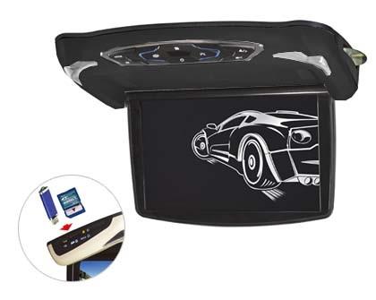 """Stropní monitor 13,3"""" šedý s DVD/SD/USB + výměnný kryt černý ds-x13d"""