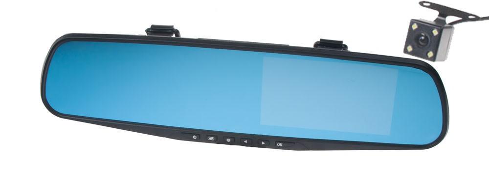 """2 kanálová FULL HD kamera integrovaná v zrcátku s 4,3"""" LCD, české menu DVR18"""
