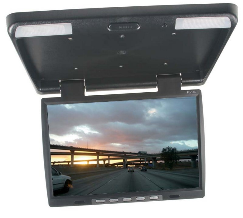 "Stropní LCD monitor 15,6"" černý neotočný ic-1549"