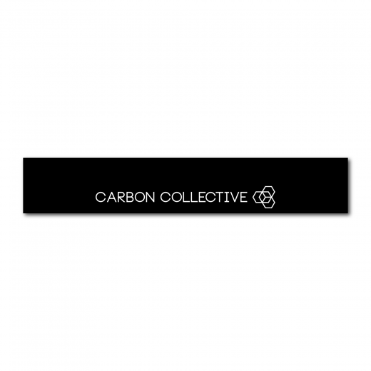 Samolepka Carbon Collective Sunstrip – Cutout Logo Matt Black