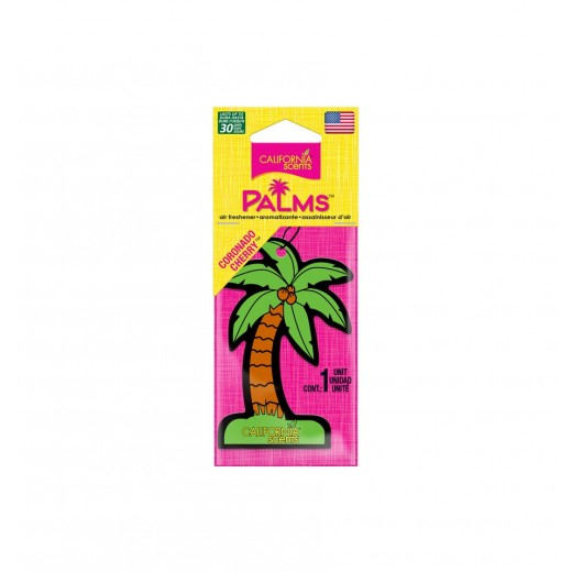 Vůně v závěsné palmičce California Scents Hang Out Palms Coronado Cherry
