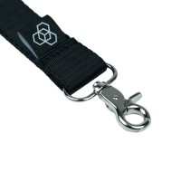 Carbon Collective Woven Lanyard Black