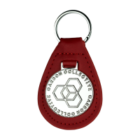 Kožená klíčenka Carbon Collective Key Fob Red