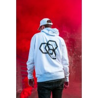 Mikina Carbon Collective Hoodie White - L