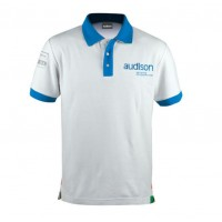 Polo triko Audison White Polo Shirt S.1 - Short Sleeve