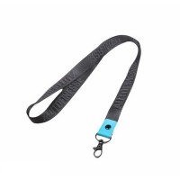 Auto Finesse Luxury Embossed Lanyard Long Black Teal