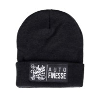 Čepice Auto Finesse The Double Stack Beanie Black White
